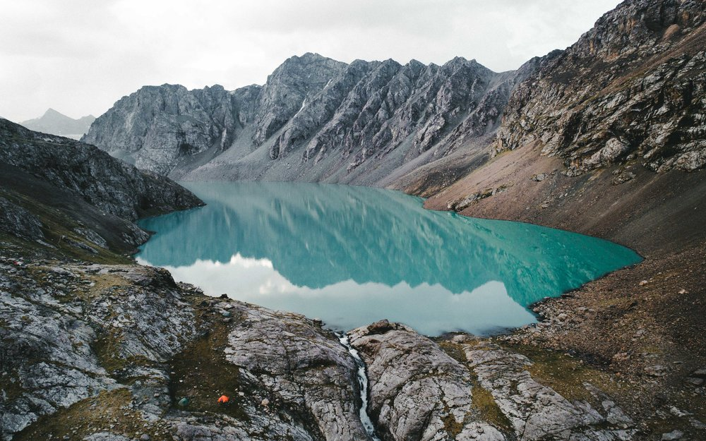 Ala-kul lake, Kyrgyzstan.