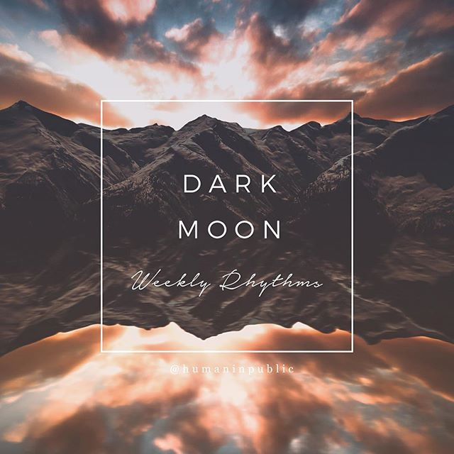 Dark Moon vibes kicking us off this Monday as we move towards the Aquarius New Moon on Thursday, 3:05pm CST. Dark moons ask us to examine our insides. To put feet on the earth - did you know digging in the dirt triggers a release of the same hormones targeted by antidepressants? When we tune in to the earth, images and ideas burst to the forefront. I see this in abundance in class, where I ask students to get sensually involved with the natural world. Guides are available to us internally (intuition) and externally (nature symbolism and gesture). The dark moon occurs in the few days before the new moon, when that little baby waning crescent sliver isn't really visible anymore. This is sacred time. New moons are for planting seeds, so think of this week as your seed prep time. What do you want to be building next? What are you ready to nourish and tend? How do you want to grow? We get a supercharged planting period this week, as this new moon is also a solar eclipse. Aquarian solar eclipses highlight community, collective health, friendships, relationships, and wishes. I give a gigantic YES to all of that. #solareclipse #newmoon #aquariusnewmoon #lunarweather #darkmoon #humaninpublic