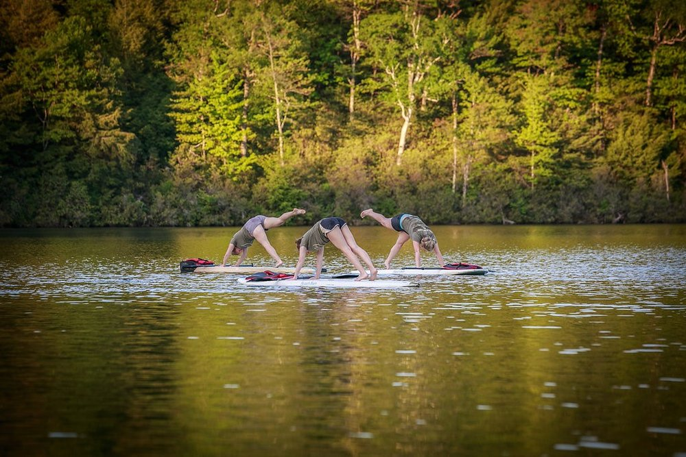 SUP Yoga (one of our most popular activities!)
