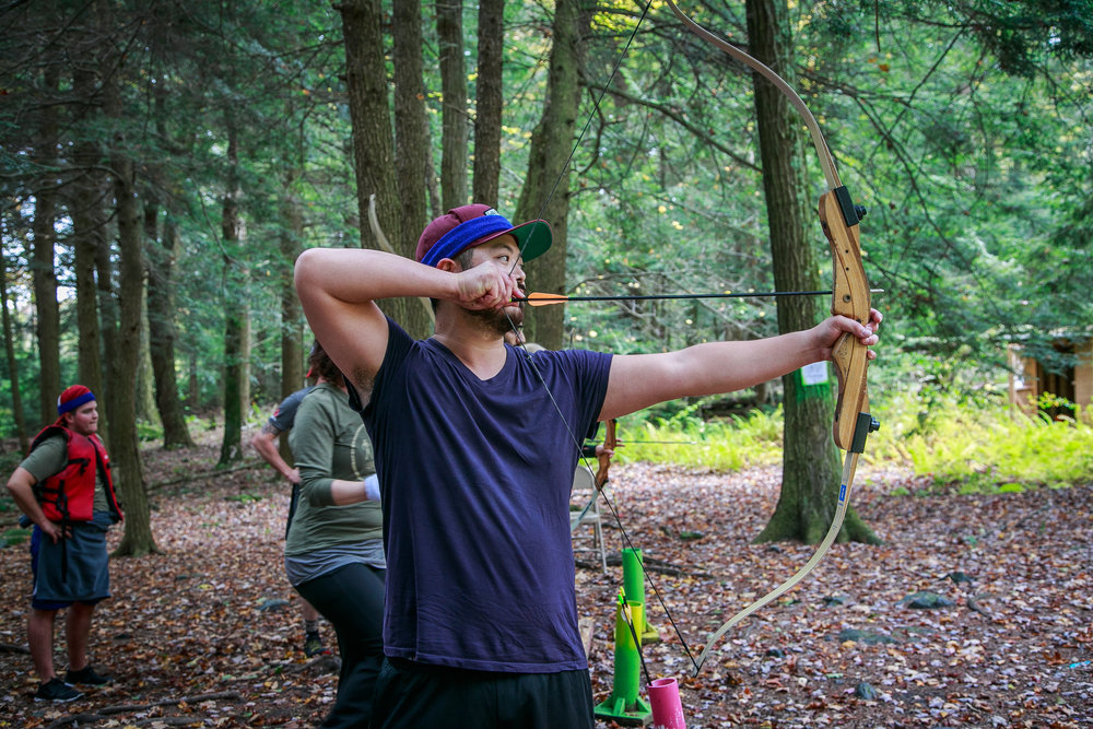Archery..pretty good arm workout!