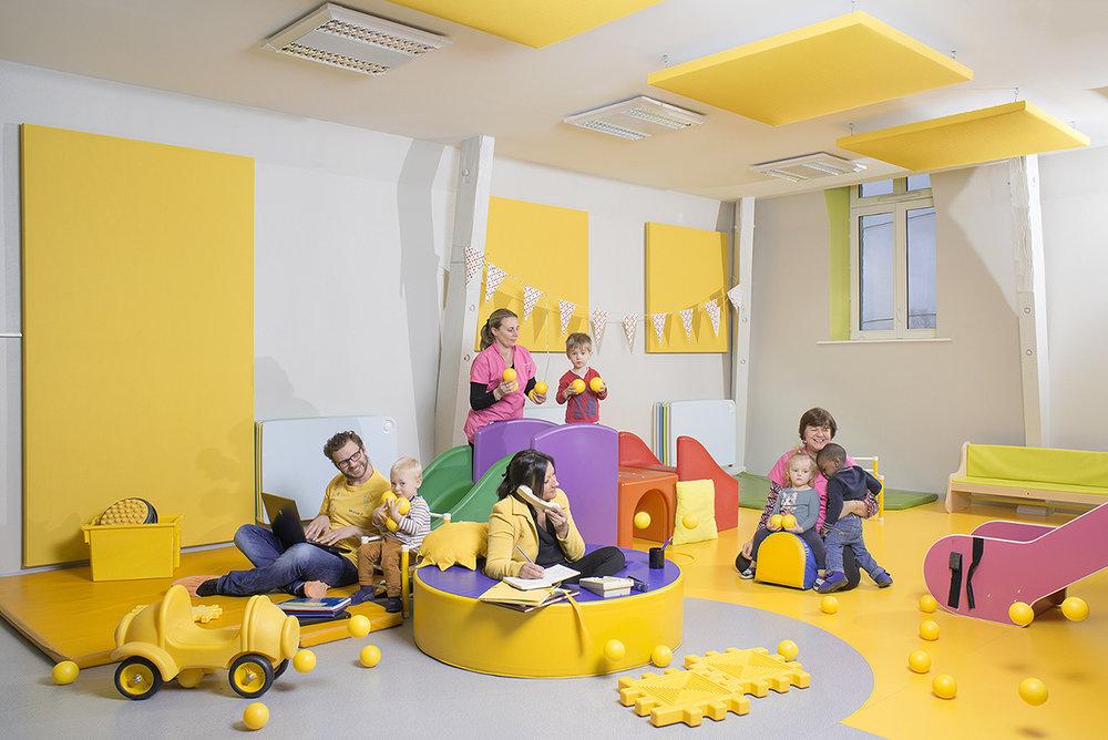 Mairie de Lille, 2016. 20 services de la mairie de Lille mis en scène. Petite enfance