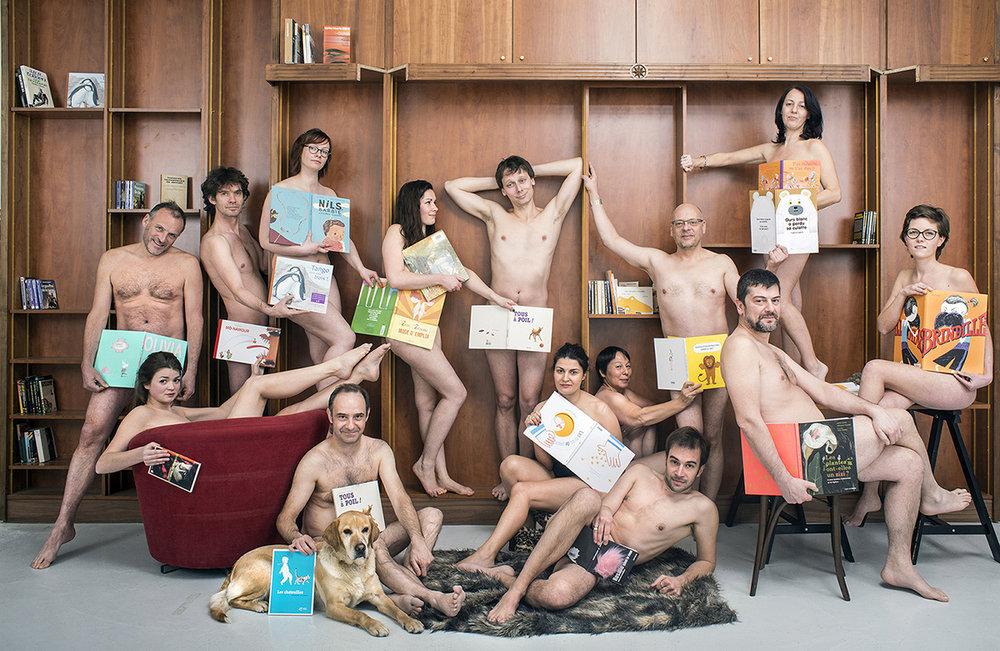 Les libraires à poil contre la censure! Lille 2014