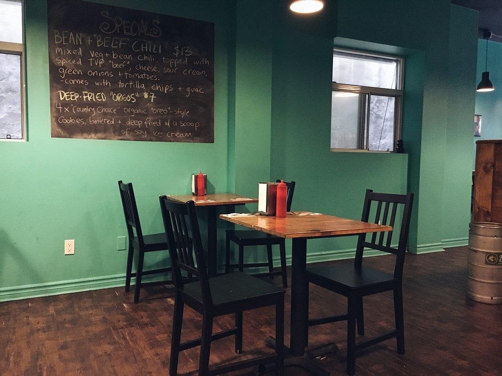 Hogtown Vegan Interior Menu Table