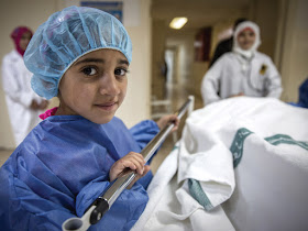 Hiba, aged 9. Vision: future paediatrician.