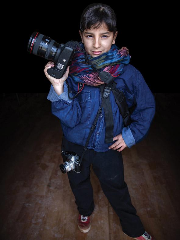 Muntaha, aged 12. Vision: future photographer.