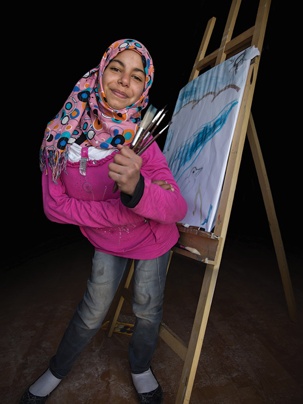 Merwa, aged 13. Vision: future painter.