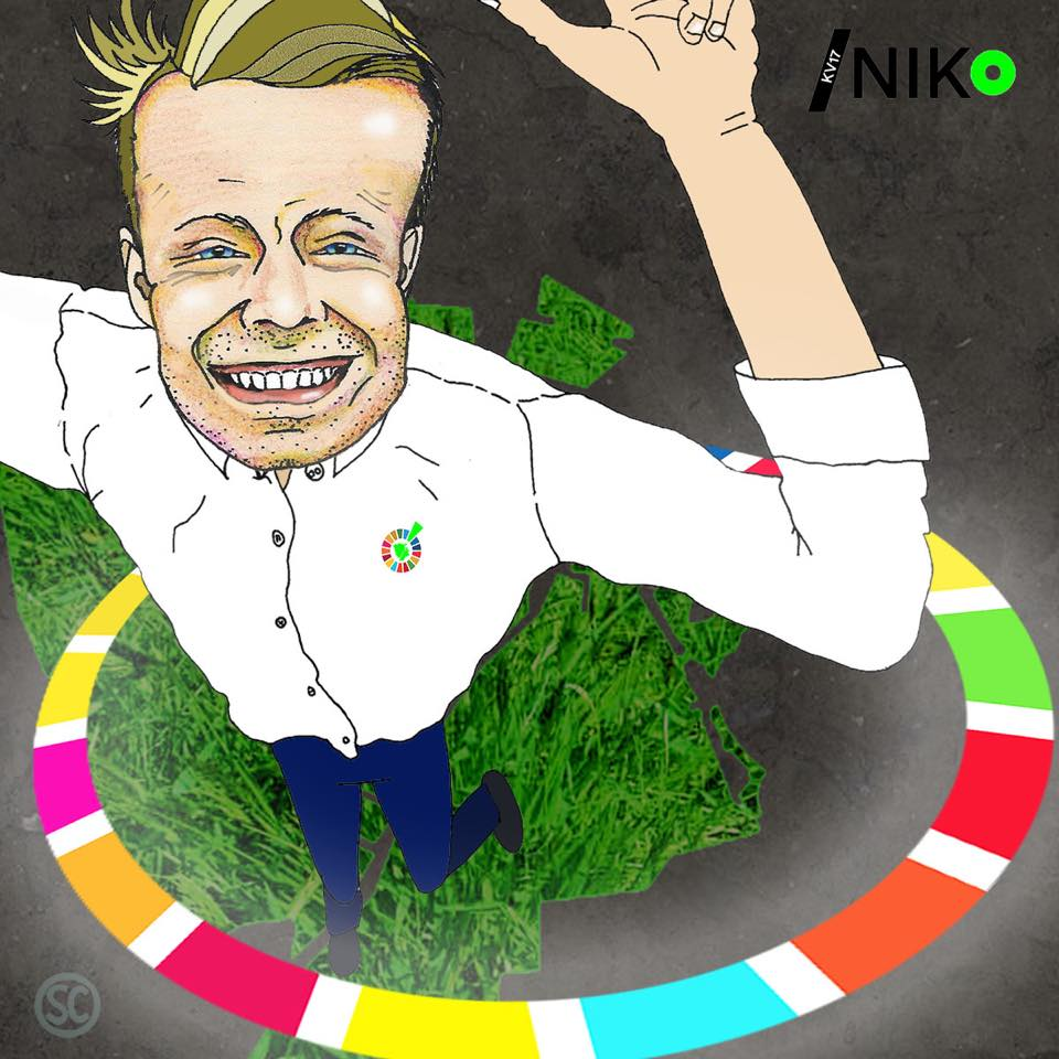 Niko Grünfeld Illustration by Sidsel Carlsen