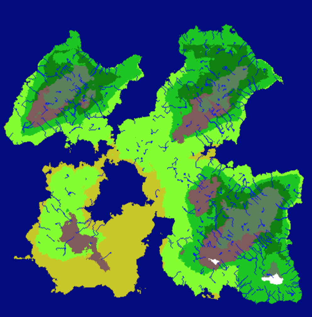 Random World Generation with Fractal Terrain