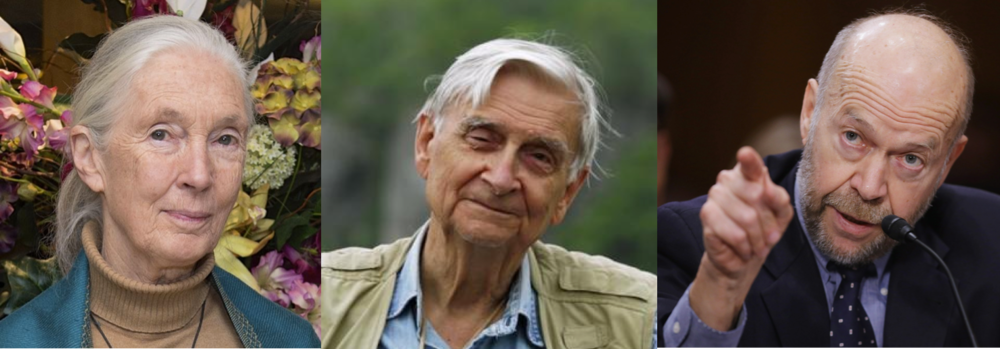 Jane Goodall, E. O. Wilson and James Hansen were among the celebrity scientists warning humanity