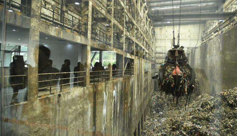 A green power station in Chongqing uses waste to produce electricity. Photo: Getty Images.