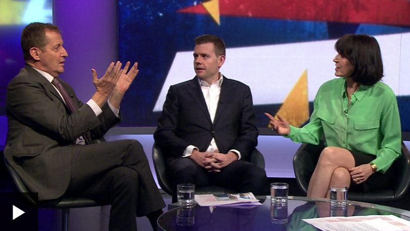 BBC Headline: Alastair Campbell told to 'shut up' during Newsnight Brexit debate