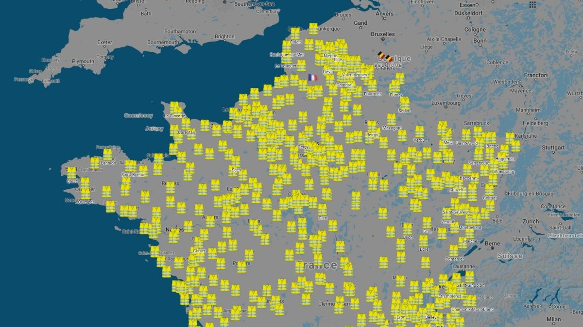 carte des blocages du 17 novembre The 'Yellow Jackets' weren't the first leaderless movement, and