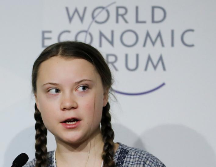 Greta Thunberg at Davos 2019
