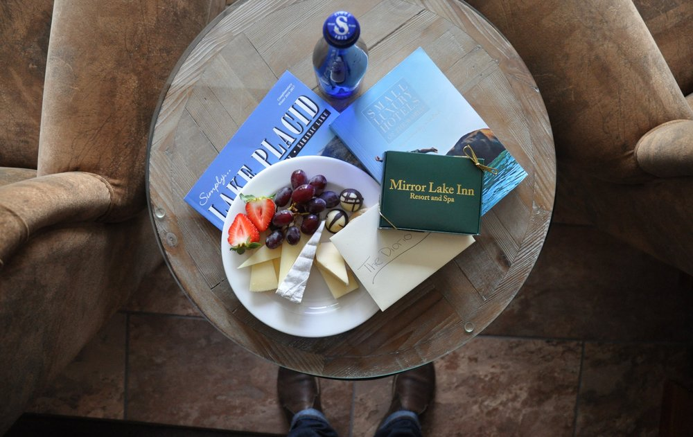 Welcome gift at the Mirror Lake Inn, Lake Placid, New York
