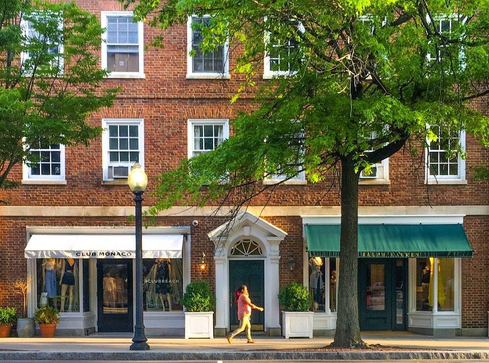 Shopping on Nassau Street in Princeton