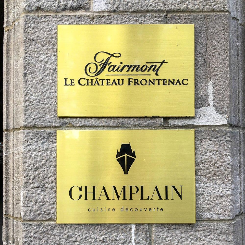 Le Champlain at the Fairmont Le Château Frontenac