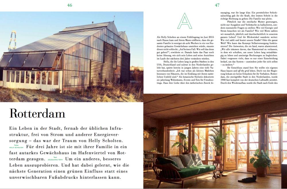 """Wie funktioniert nachhaltiges Wohnen ? - Eine Erörterung anhand """" The Greenhouse Project"""" in Rotterdam für The Weekender"""