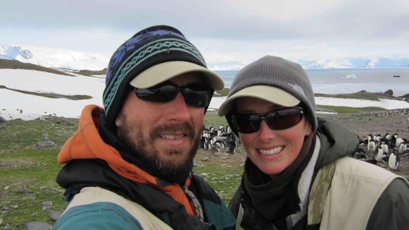 Matt and I collecting data on penguin populations on King George Island, Antarctica.