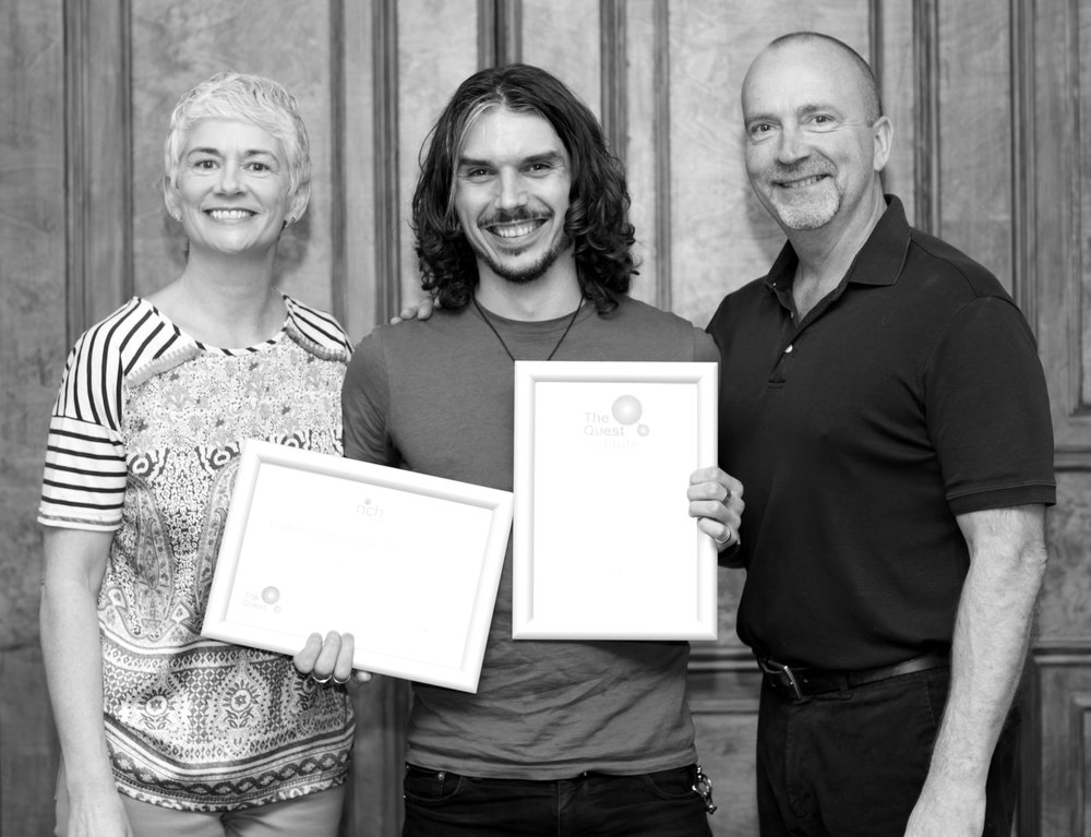 graduation from  the quest institute  at regent's University in london, with  trevor silvester  and rebecca silvester