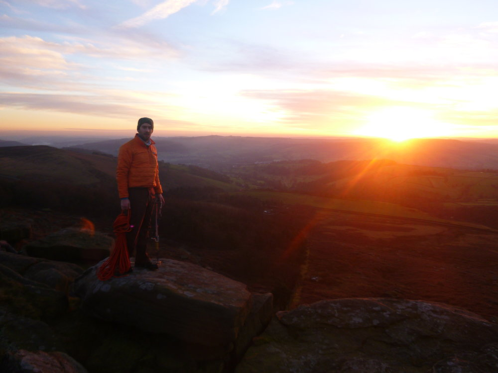End of the VS challenge on Stanage just as we loss the light