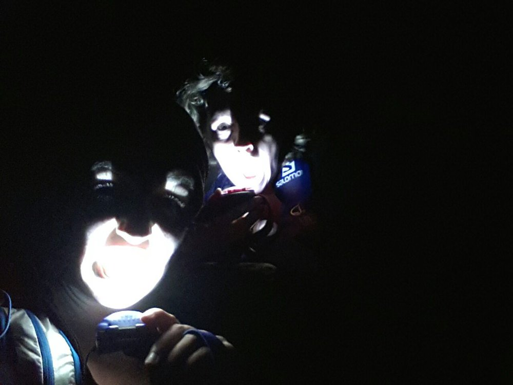Micro-adventuring -spooky head torch running