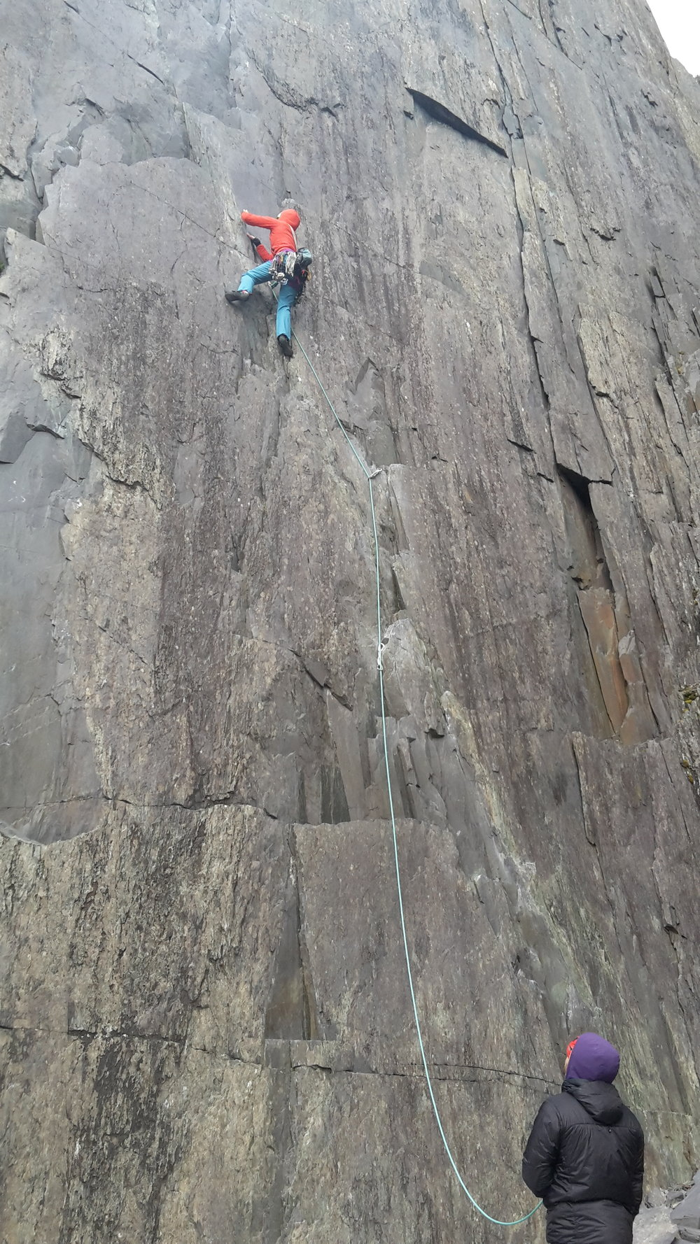 Leading VS in the slate quarries of north Wales
