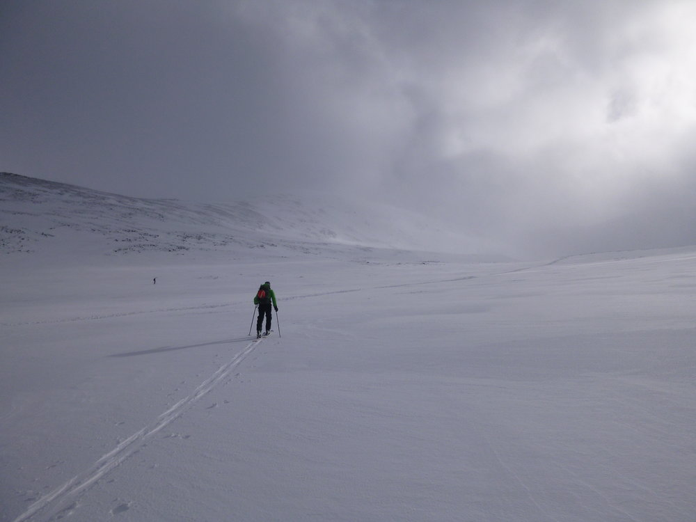 Early Days - ski approach to Scottish climbs