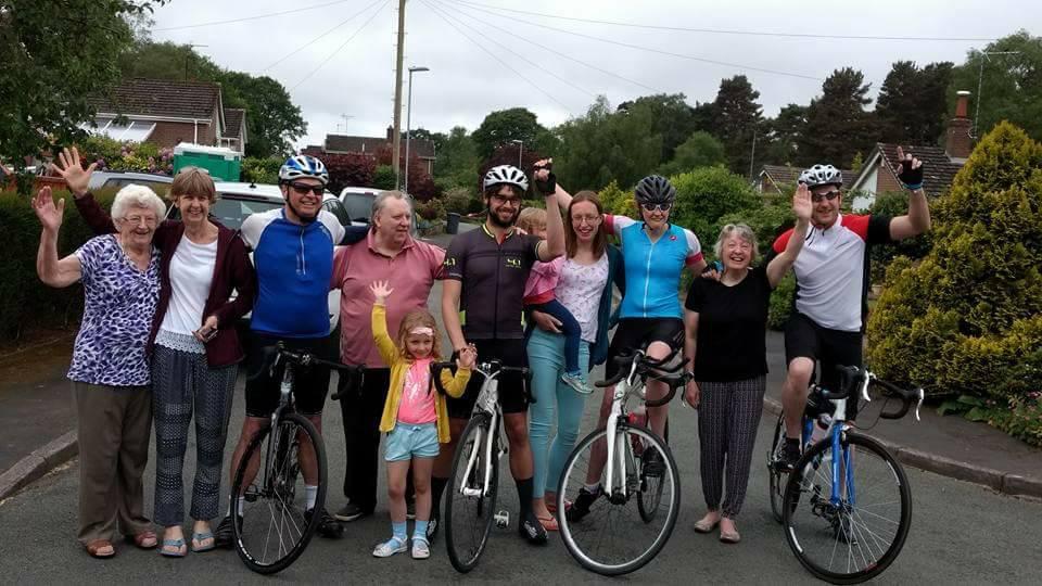 The cycling gang.