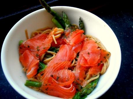Salmon pasta recipe with greek yogurt