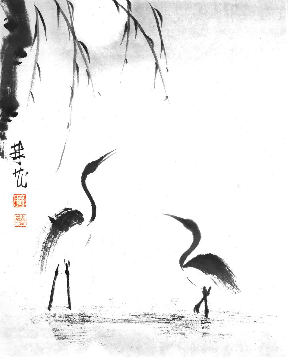 2 cranes in water.jpg