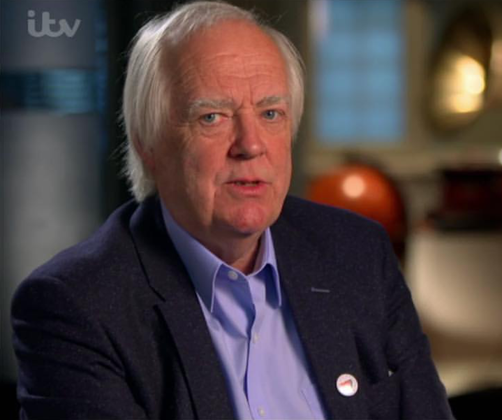 Sir Tim Rice films for ITV's Nations Favourite Disney Song in the Bar 09/01/2016
