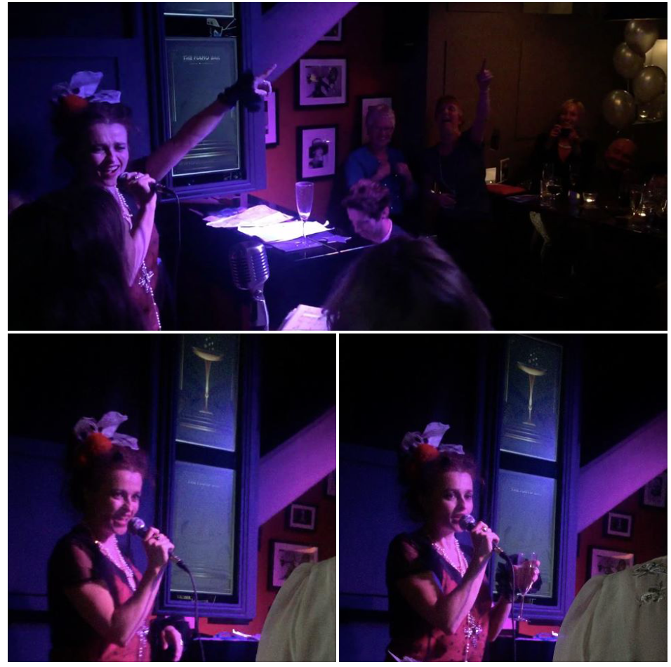 Helena Bonham Carter gives a surprise performance 03/05/15