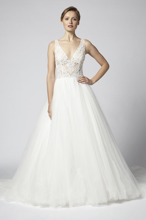 ff4496ad107 Ivory tulle bridal ballgown