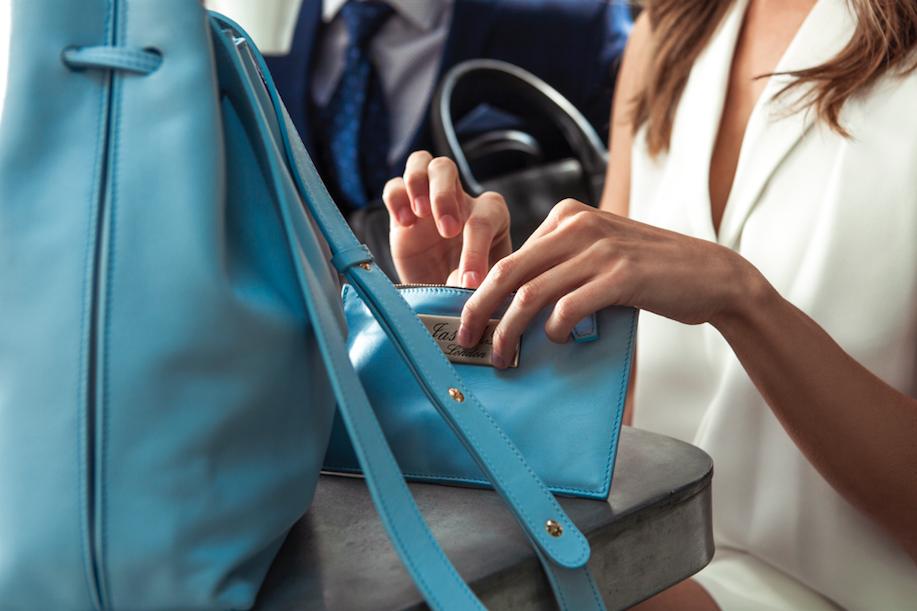 Womens internal purse jasmb baby blue