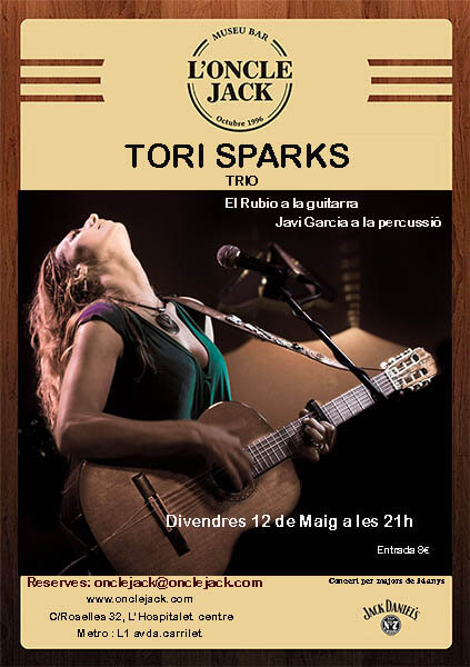 Tori Sparks Oncle Jack Concert 12 May 2017