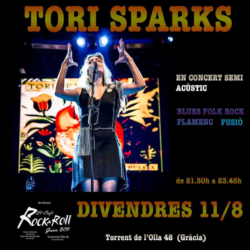 Tori Sparks Cafe Rock N Roll