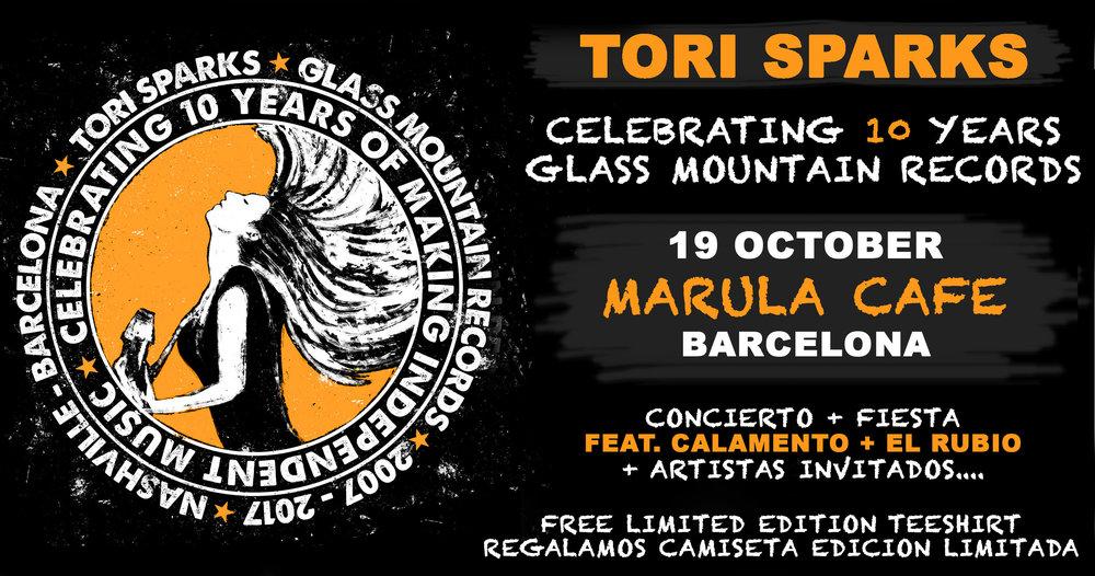 Tori Sparks Marula Cafe Glass Mountain Records