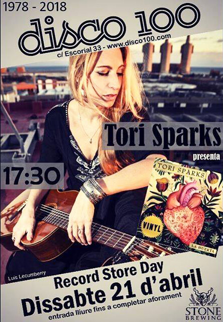 Tori Sparks Disco 100 Record Store Day 2018