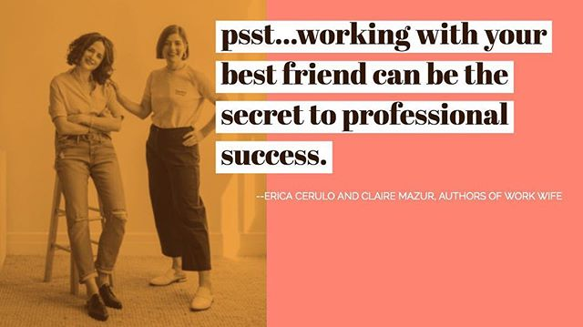 That's right, working with your best friend or sister can make magic happen! Join us next Tuesday night to meet the authors of 'Work Wife: The Power of Female Friendship to Drive Successful Businesses' and hear about their story and ours! Link in bio for the very few tickets we have left. See you there!⠀ .⠀ .⠀ .⠀ #women #business #womeninbusiness #book #talk #entrepreneur #leadership #inspiration #challenges #bestfriend #sister #familybusiness