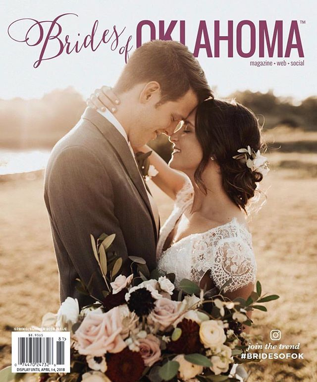 My sweet sweet couple @rylanmill & @tlmiller10 made the cover of @bridesofok & I'm just so stoked + honored! My local brides are everything to me! They keep me home & comfortable with my sweet family & allow me to work with my amazing vendor friends in a local community that supports + inspires me. My destination couples challenge me & inspire me to explore the world & all of its endless opportunities + meet new friends & creatives across the country + internationally! Both worlds are inevitably different & both of these areas of my life + business are SO important to me & I cannot thank my local community, local couples, & local small business friends including the ladies at @bridesofok enough! It has been such a blast traveling + growing while also being HOME + growing this little business of mine. Such a wonderful start to 2018 & everything that is in store!