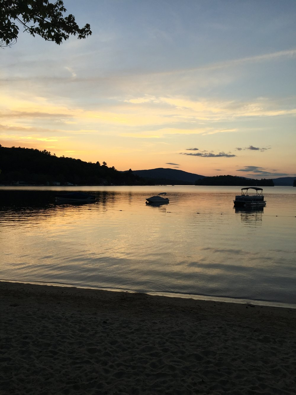 Newfound Lake at sunset
