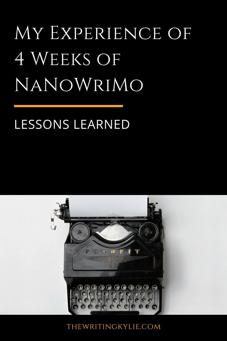 4 Weeks of NaNoWriMo: Lessons Learned