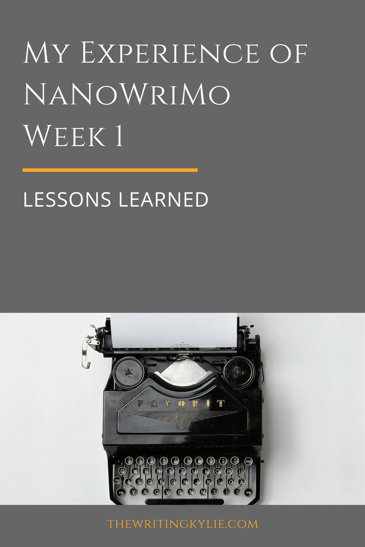 NaNoWriMo Week 1: Lessons Learned