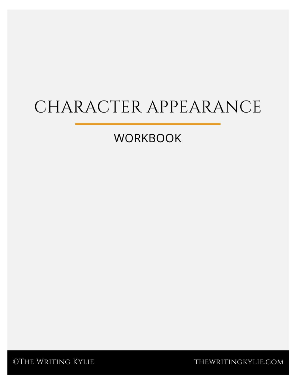 Download the  FREE  Character Appearance Template pdf to pin down your character's appearance