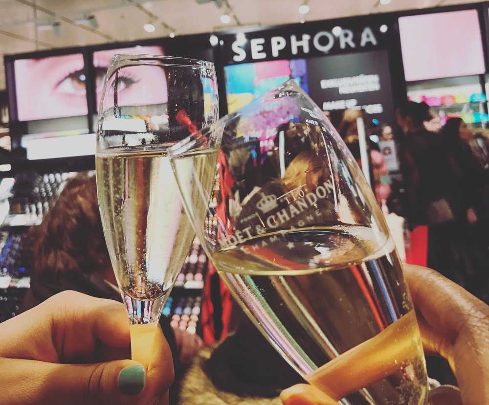 Sephora made it to Basel! Cheers to that!