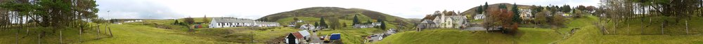 A panorama view of Wanlockhead