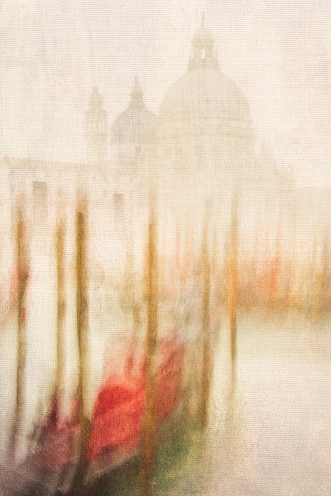 (Above) This image is a long exposure made from a moving Venetian vaporetti. In post-production I lightly texturized it. The blend of the texture and the Entrada Rag Texture helps create a unique and subtle effect. © Harold Davis