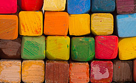 Color pastels for art on paper