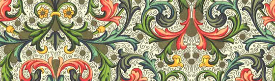 Bertini decorative paper for stationery or gift wrap.