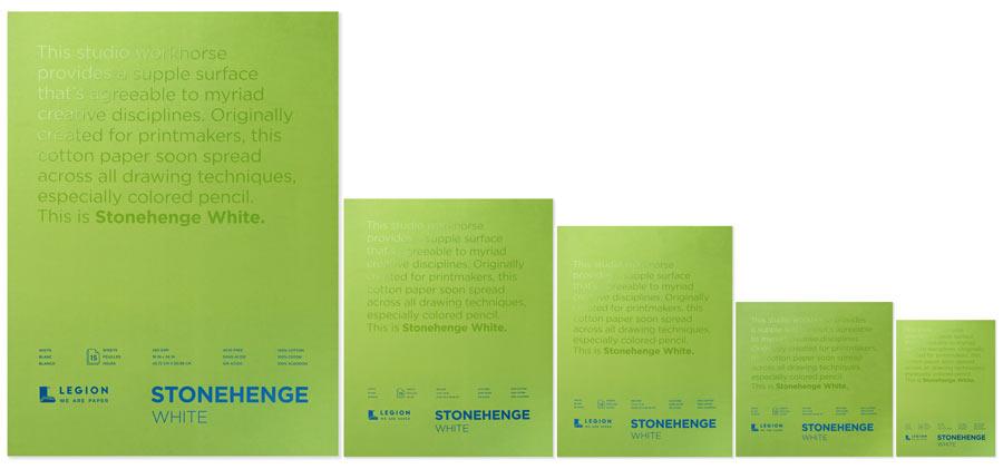 Stonehenge White Paper Pad Family
